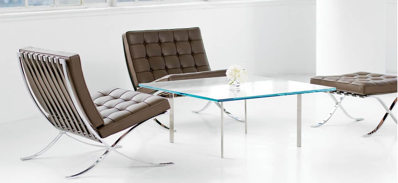le fauteuil barcelona de ludwig mies van der rohe et dit par knoll. Black Bedroom Furniture Sets. Home Design Ideas