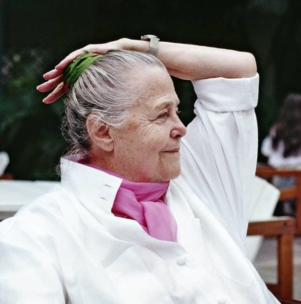 Charlotte Perriand à Rio, 1987. © Adagp, Paris, 2019 ; © Archives Charlotte Perriand